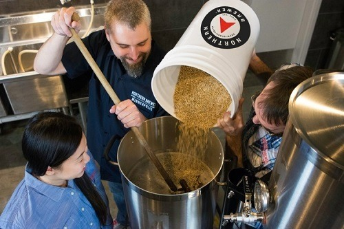 Group Of People Making Beer with Northern Brewer Starter Set