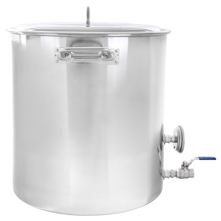 CONCORD 15-Gallon Stainless Steel Home Brew Kettle Side View